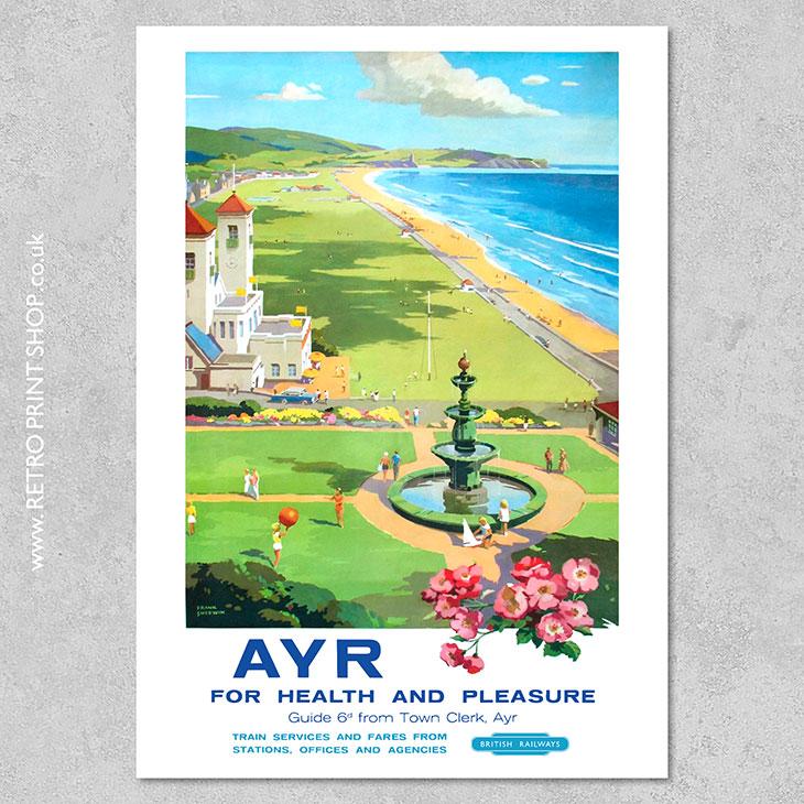 British Railways Ayr Poster