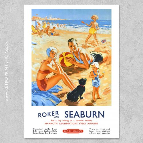 Roker & Seaburn Poster