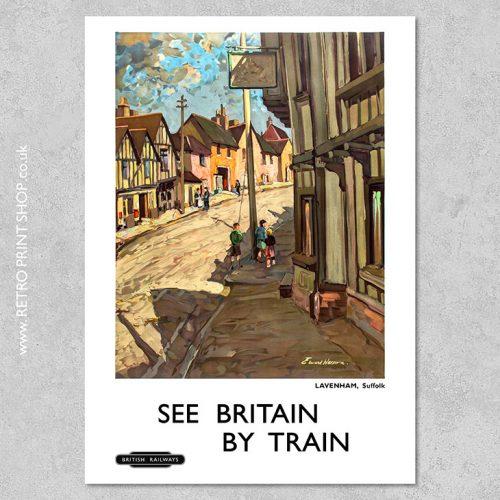 Suffolk Lavenham Poster