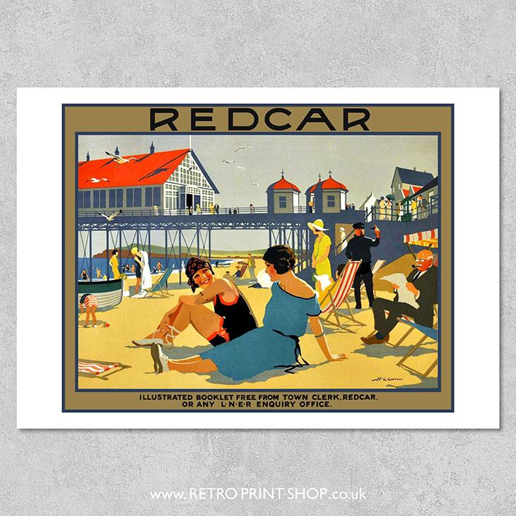 LNER Redcar Poster