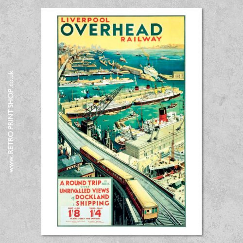 Liverpool Overhead Railway Poster
