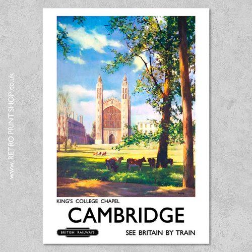 Cambridge Kings College Poster