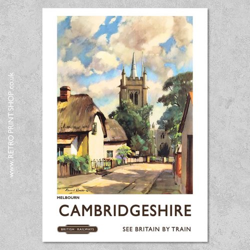 Cambridgeshire Melbourn Poster