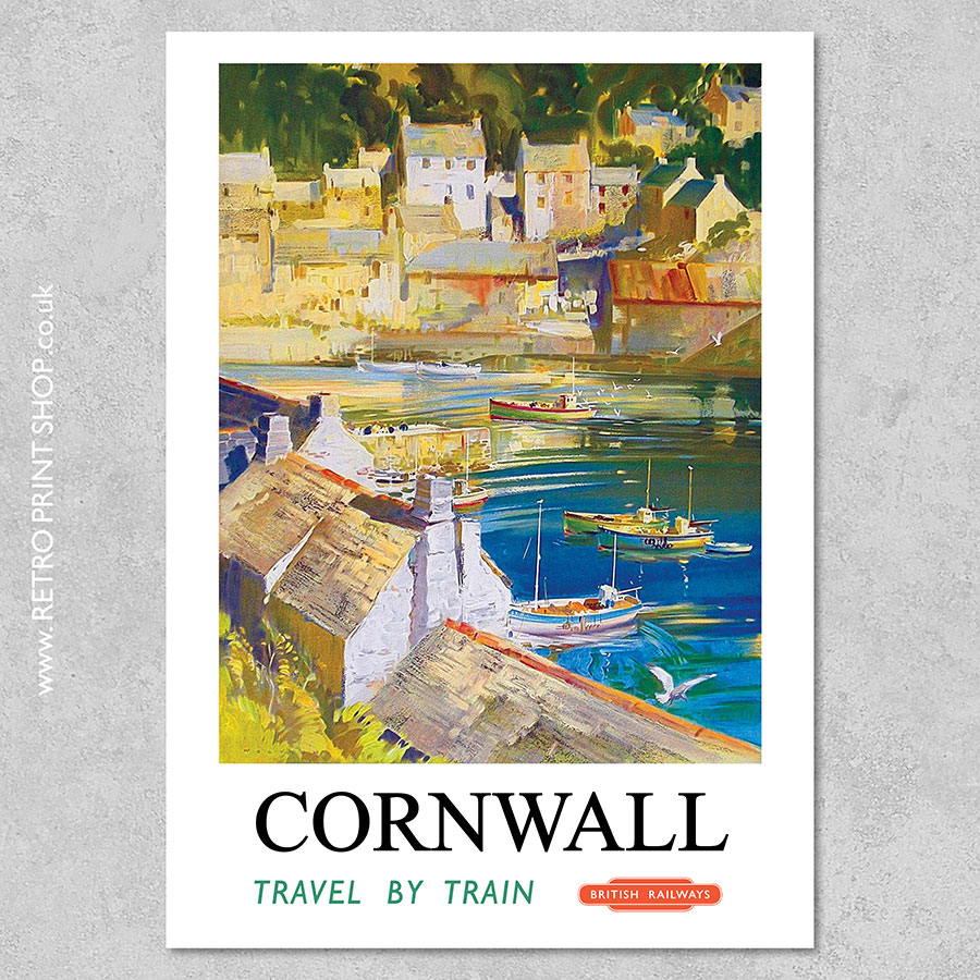 London #3 Vintage Travel Poster 4 sizes, matte+glossy avail