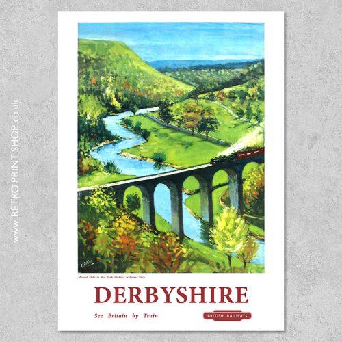 Derbyshire Railway Poster