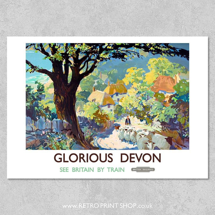 Devon Railway Poster