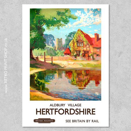 Hertfordshire Poster Aldbury Village