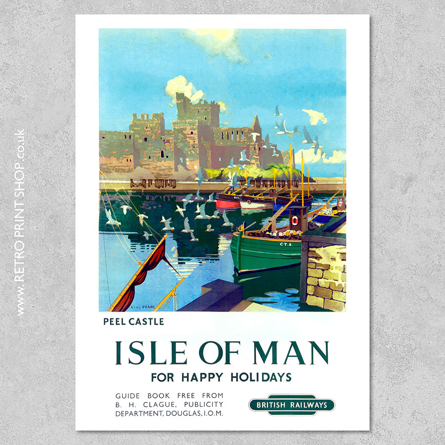Isle of Man Peel Castle Poster