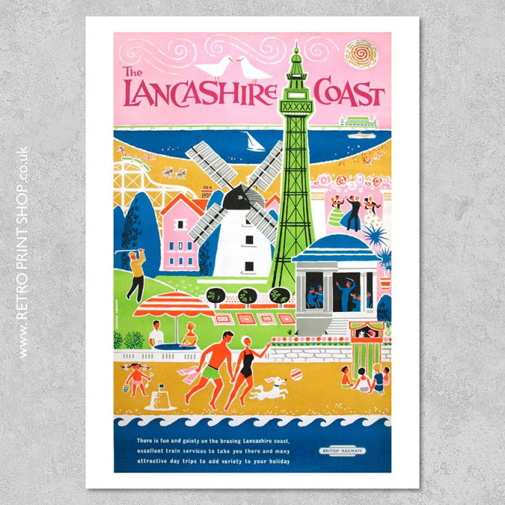 Lancashire Coast Poster