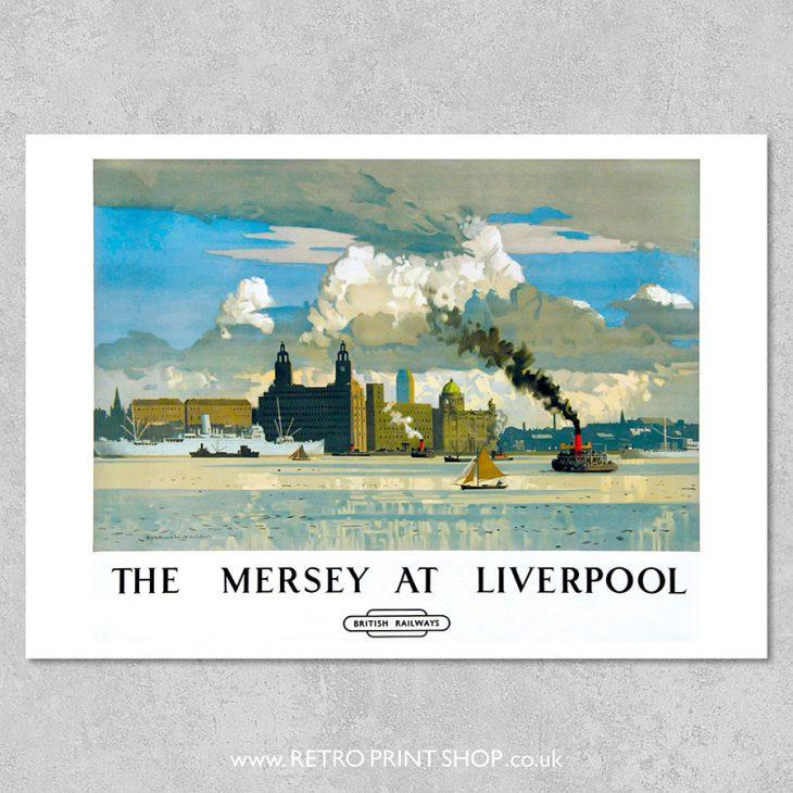 Liverpool Mersey Poster