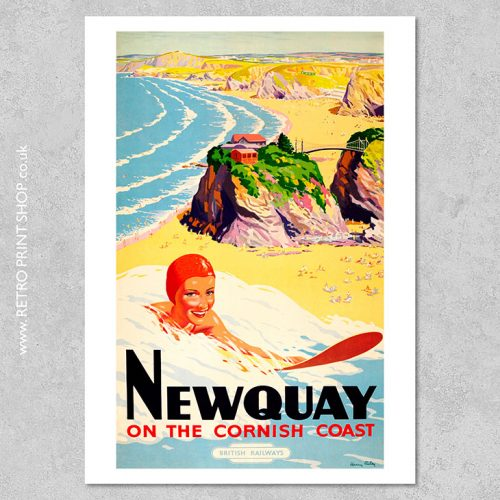 British Railways Newquay Poster