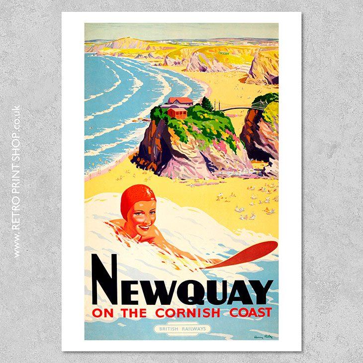 British Railways Newquay Poster