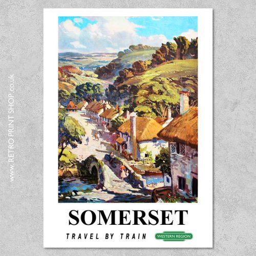 British Railways Somerset Poster
