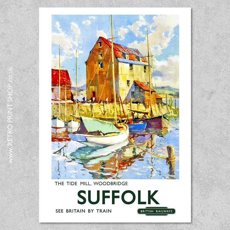 Suffolk Tide Mill Poster