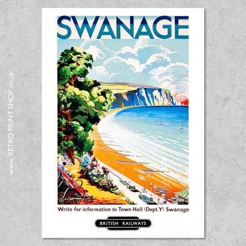 British Railways Swanage Poster