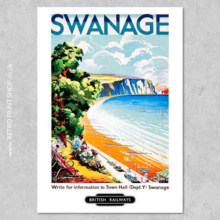 British Railways Swanage Poster