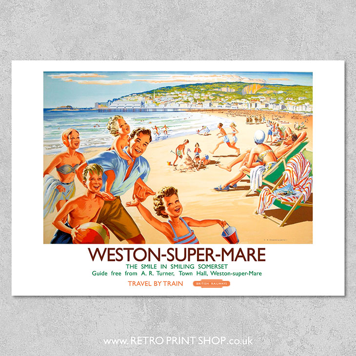 advertising Poster reproduction Weston super mare