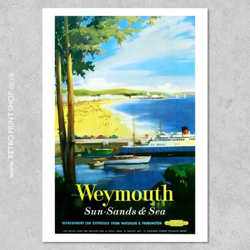 British Railways Weymouth Poster