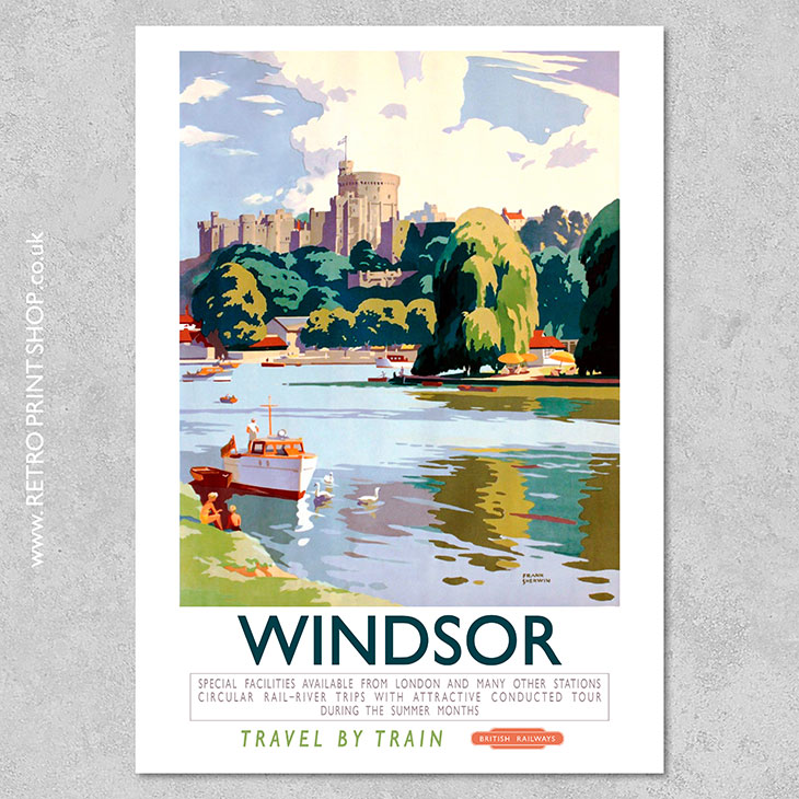 1950/'s British Rail Portsmouth and Southsea Railway Poster A3//A4 Print