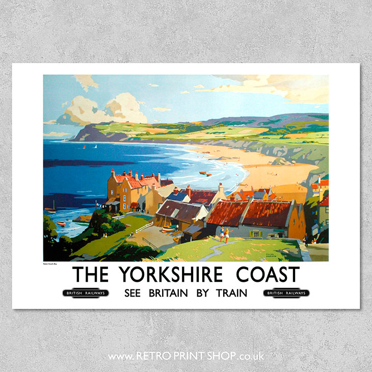 Vintage British Rail Whitby Yorkshire Railway Poster Print A3//A4
