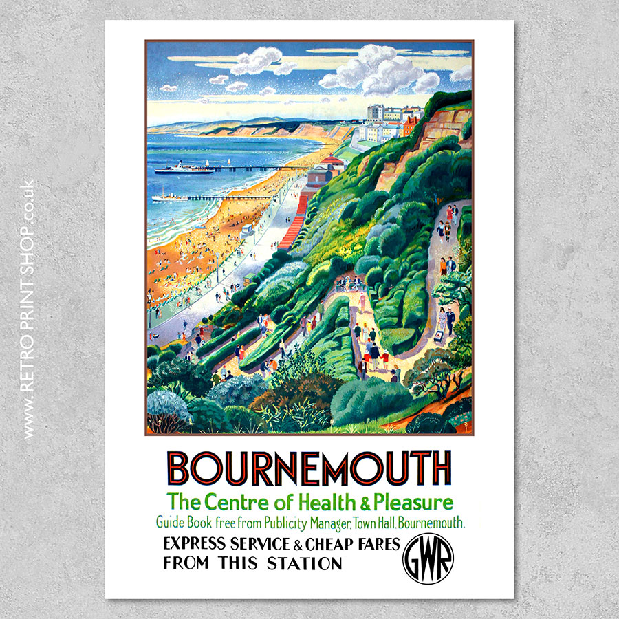 GWR Bournemouth Poster