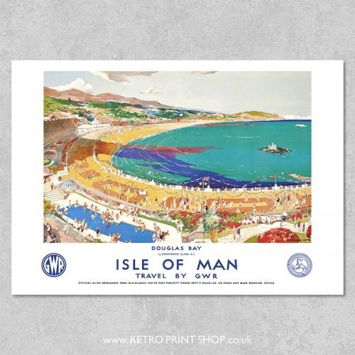 GWR Isle of Man Douglas Bay poster