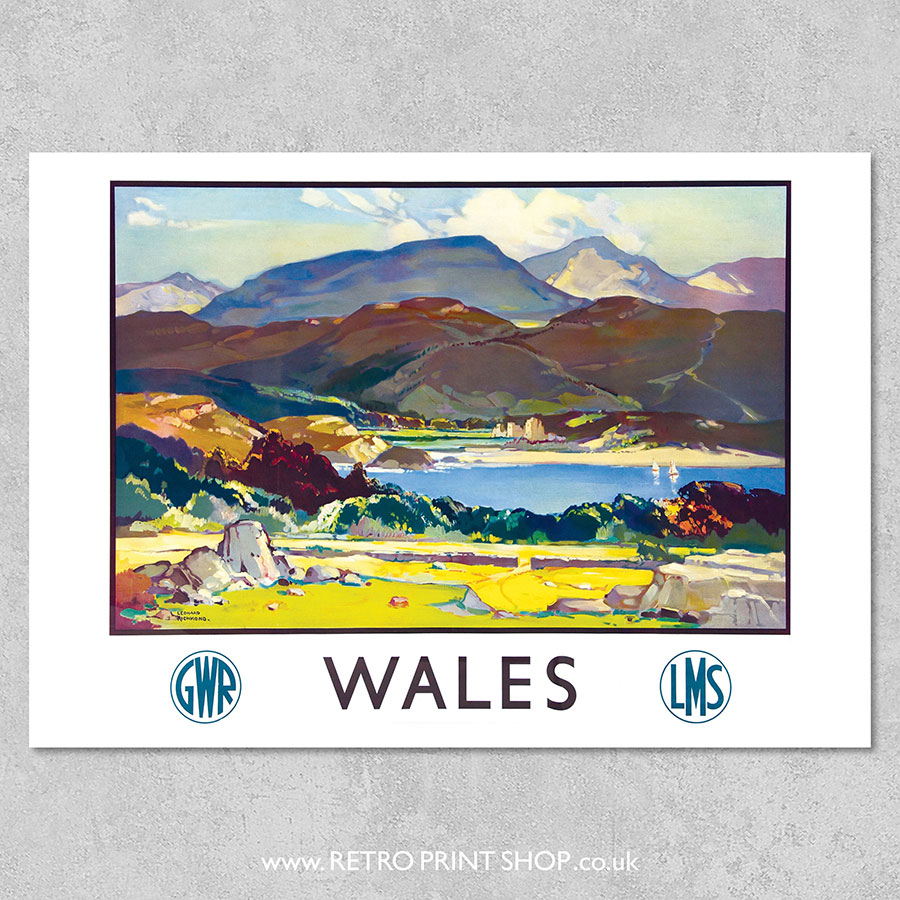 GWR LMS Wales poster
