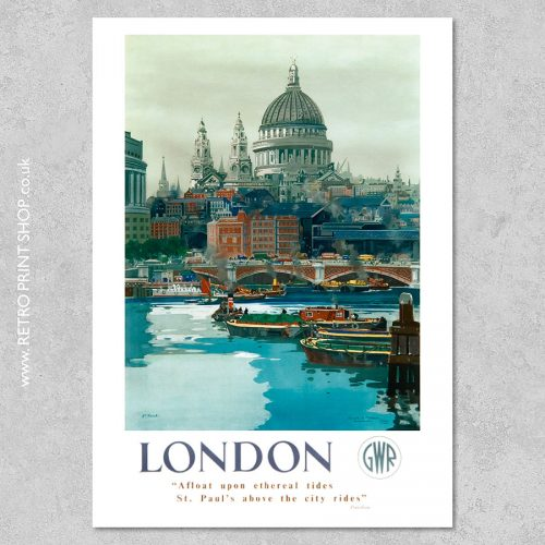 London St Pauls poster