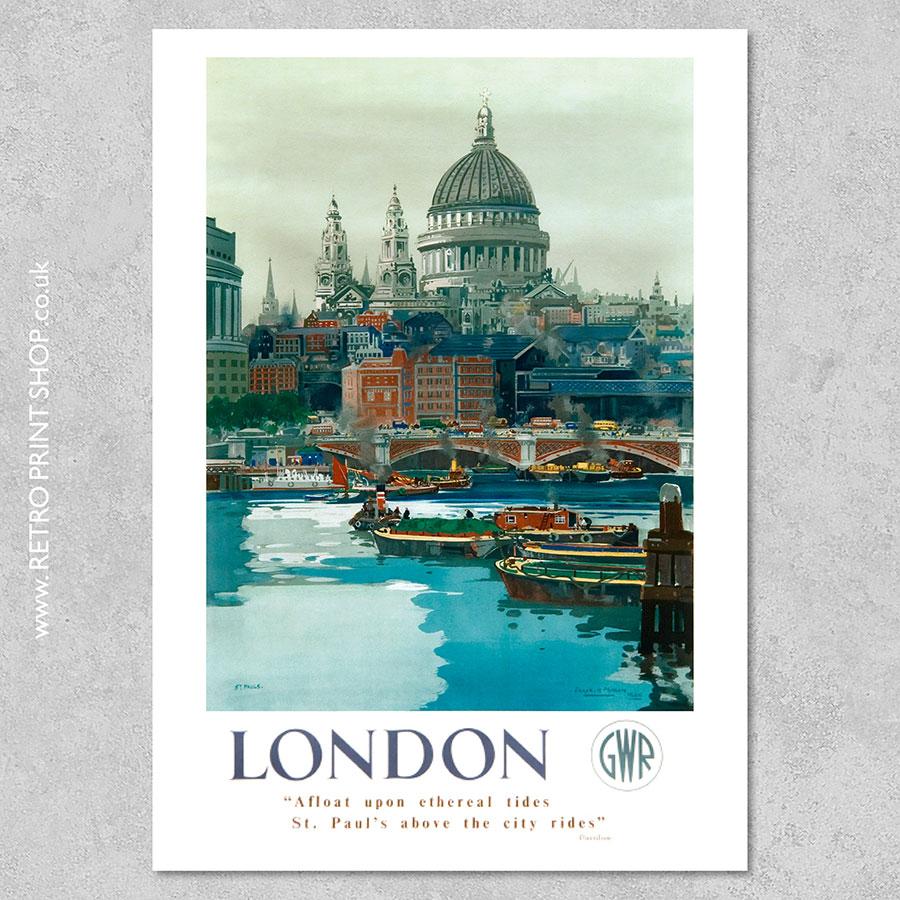 London St Pauls poster