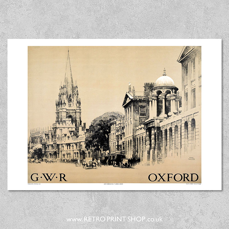 GWR Oxford Poster
