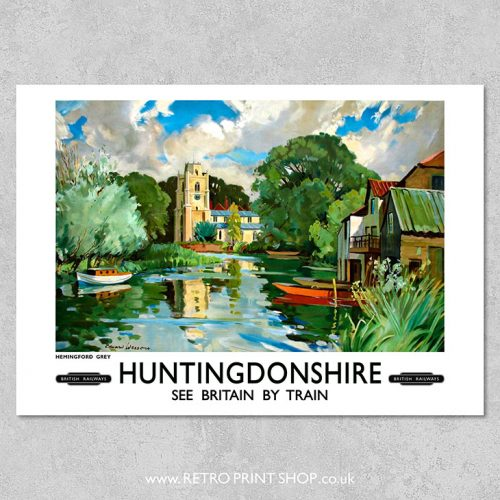 Huntingdonshire Hemingford Grey Poster