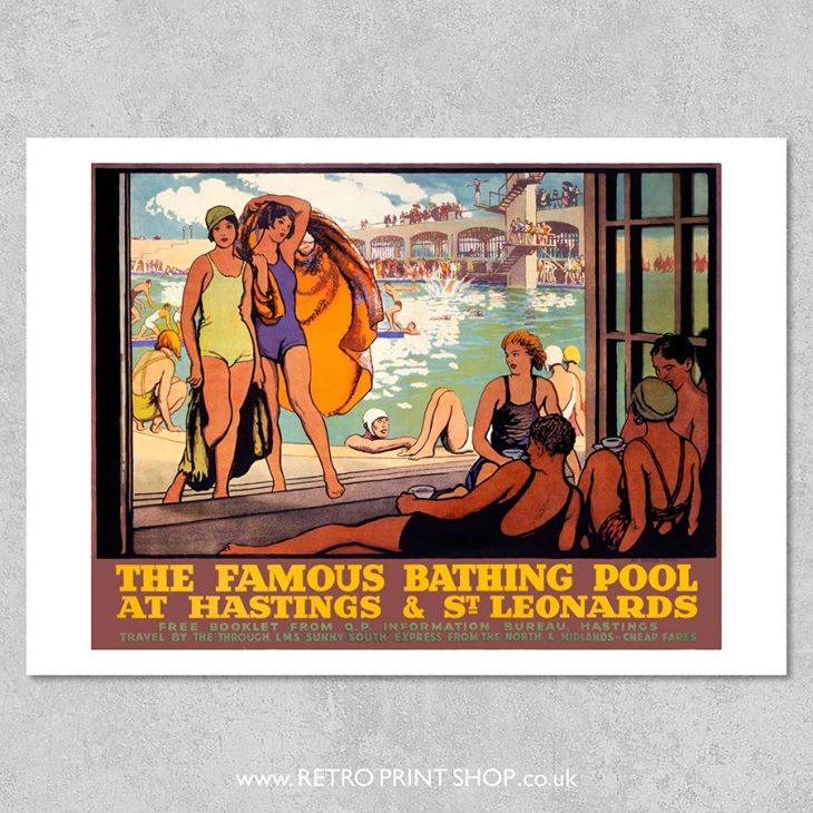 Hastings Bathing Pool Poster