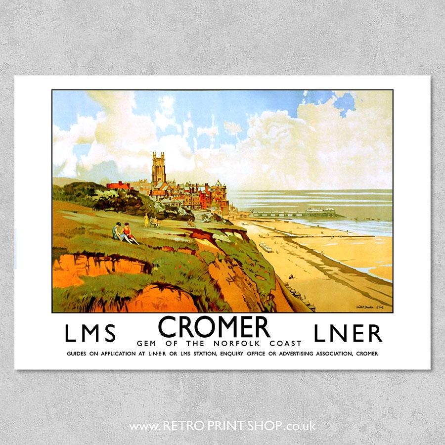 LMS LNER Cromer Poster