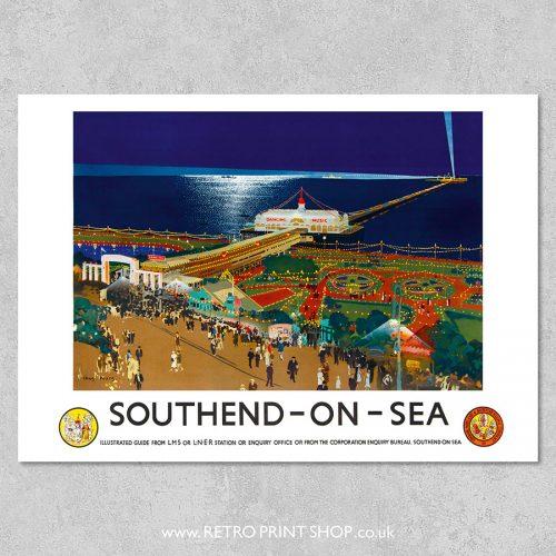 LMS LNER Southend Poster