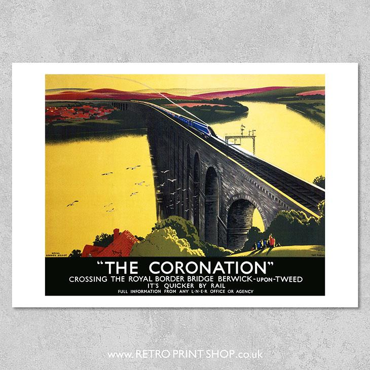 LNER Coronation Poster
