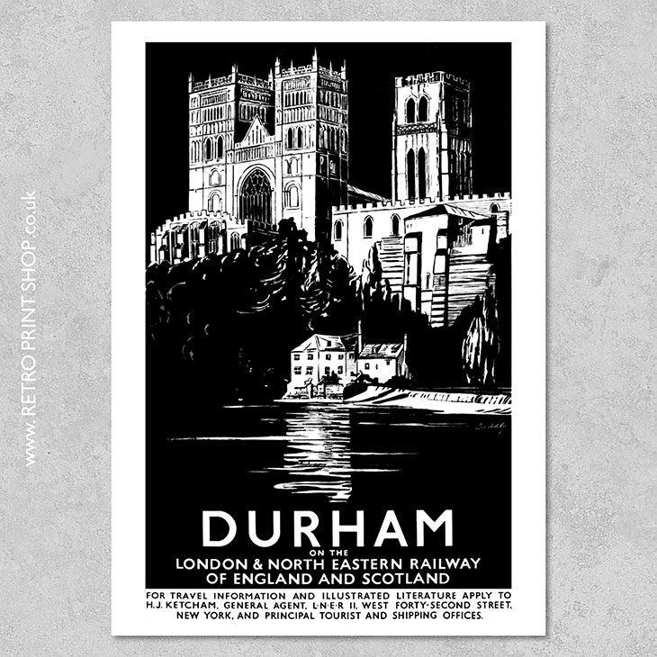 LNER Durham Poster