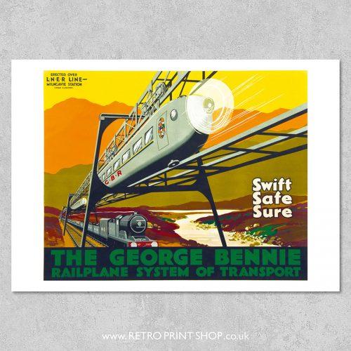 George Bennie Railplane poster