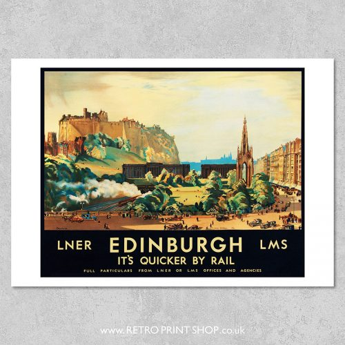 Edinburgh Railway Poster