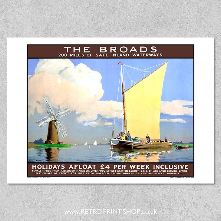 LNER Norfolk Broads Poster