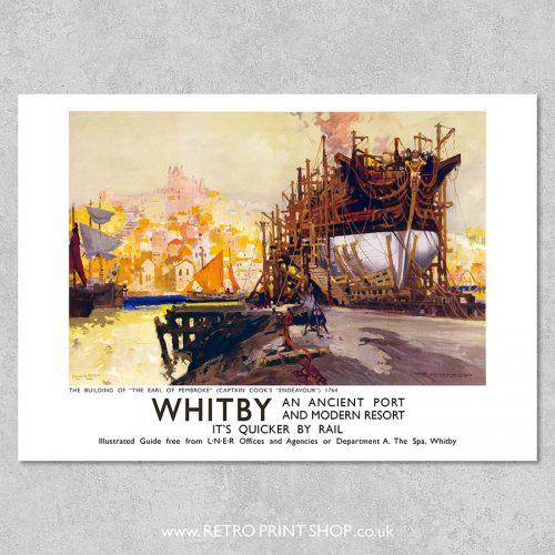 LNER Whitby Endeavour poster