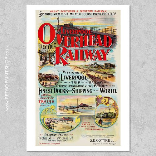 Liverpool Overhead Railway Poster 3