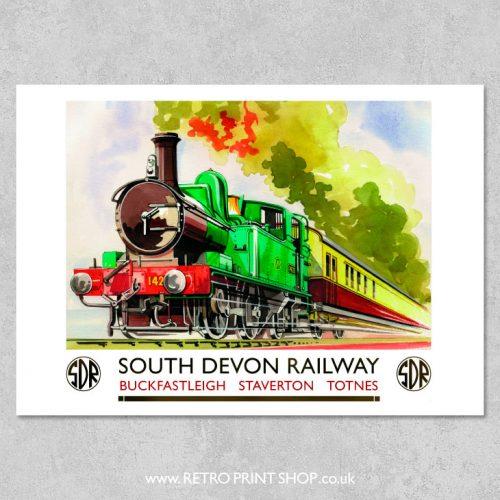 South Devon Buckfast Staverton Totnes Poster