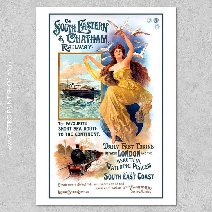 Soth East Coast Railway Poster