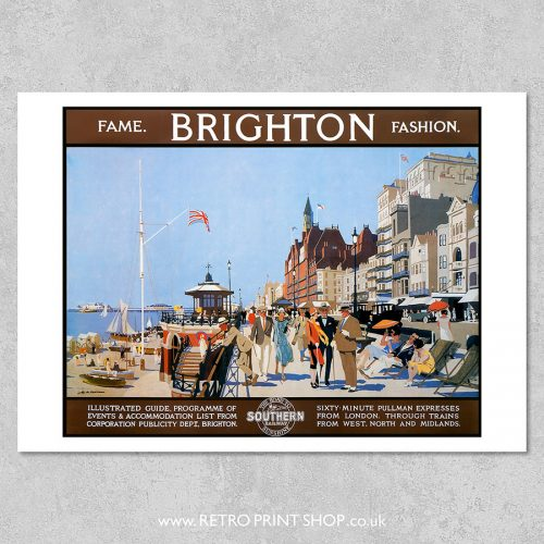 Brighton Fame Fashion Poster