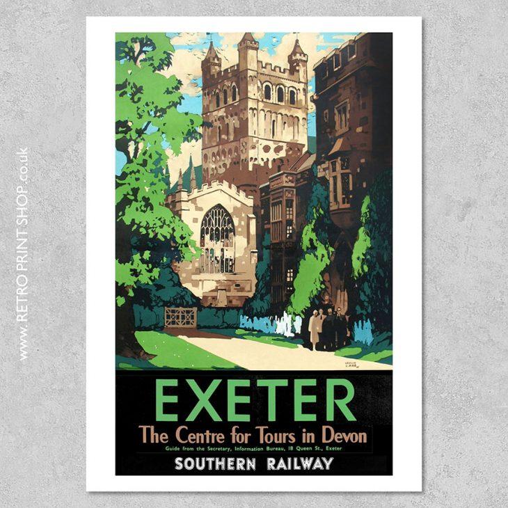 Exeter Railway Poster