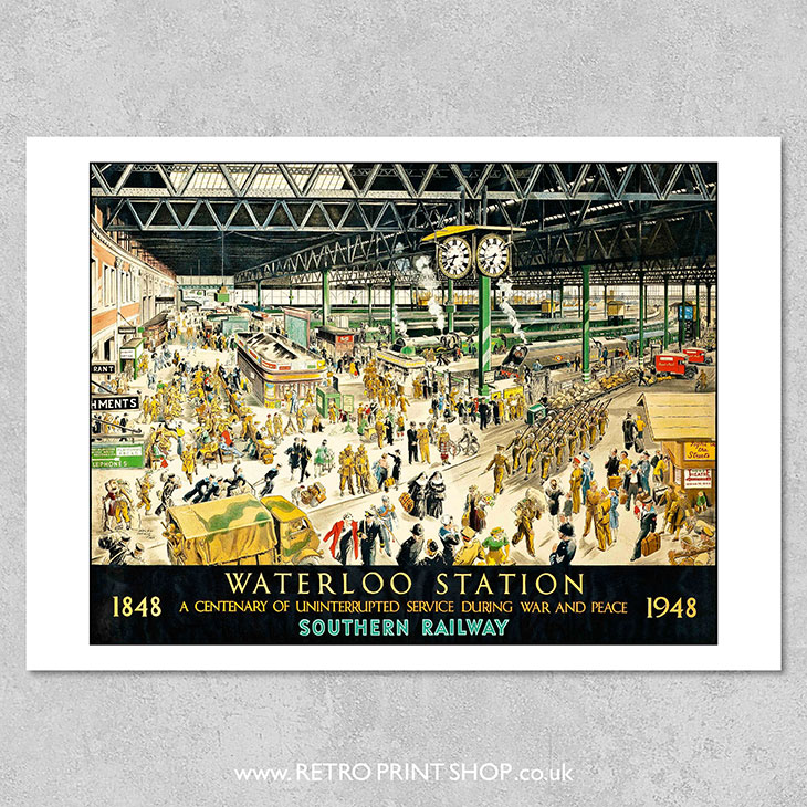 Waterloo Station Poster
