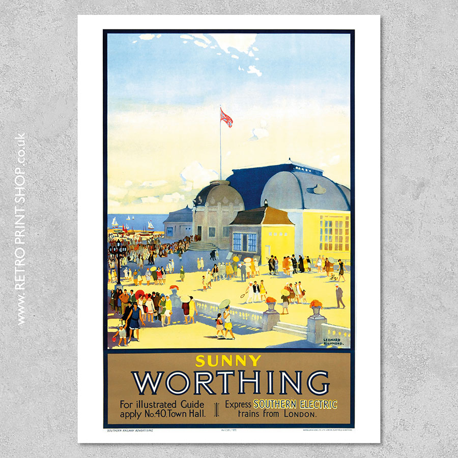 Southern Railway Worthing Poster